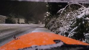 Årets første snetur blev kørt i Ganløse