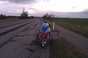 Dårlig vej og cykelsti