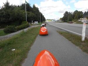 På vej til første disciplin 200 meter sprint