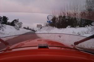 Sneen vaek fra cykelsti 11-12-201