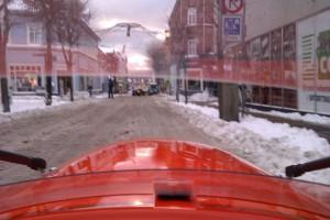Strada i grød sne 6-12-2012