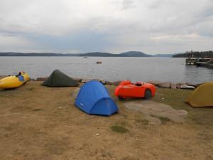 Strada og telt udsigt til Oslo Fjorden