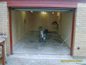 Velomobil garage klar til maling