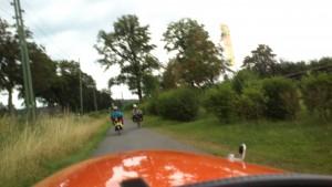 2 liggecykler på vej til camping