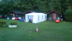 På campingpladsen
