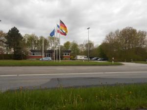 Grænsen til Danmark nås