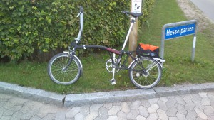 Lånecykel mens Strada fik skifte leje hos velomobilcenter.dk