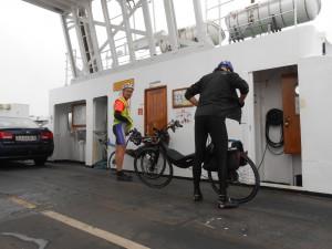 SBS 2013 Ro og liggecykel på Hals-Egense Færgen
