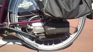 Sachs motor på cykel
