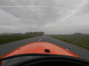 Torsdag morgen Skyet og tåget