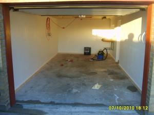 Velomobil garage gulv renoveret